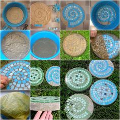 DIY Mosaic Stepping Stones for the Garden