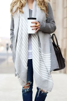 Grey on grey is our favorite color scheme.