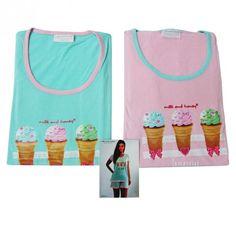 http://www.carillobiancheria.it/pigiama-donna-estivo-ice-cream-100-cot-mezze-maniche-con-pantalone-corto-l322-15229.html   #carillolist