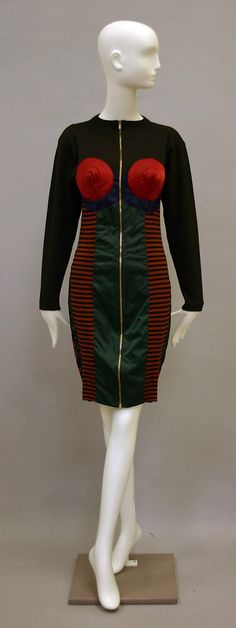 Dress, Jean Paul Gaultier, 1986–87, French, cotton, synthetic
