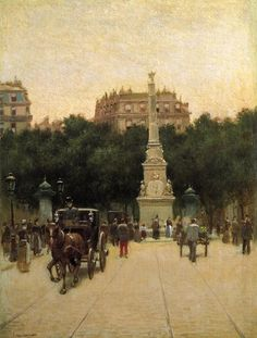 A Boulevard in Paris by Paul Cornoyer (American 1864-1923)