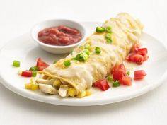 Healthy Creamy Chicken Enchiladas