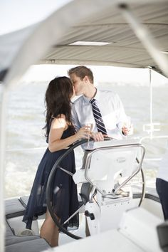 Yachting engagement shoot. Photography by Mustard Seed Photography / mustardseedphoto.com