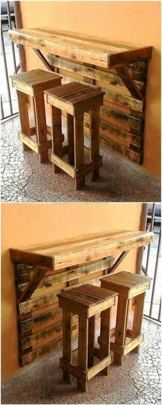 wooden furniture 48 Affordable Diy Wooden Pallet Project Ideas - When the snow melts and the scent of spring is in the air, folks around the country head out to their yards and start working on landscaping projects . Wooden Pallet Projects, Wooden Pallet Furniture, Wooden Pallets, Wooden Diy, Pallet Bench, Outdoor Pallet, Pallet Furniture For Kitchen, Diy Furniture Made From Pallets, Rustic Furniture