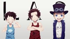 Anime One Piece Sabo Portgas D. Ace Monkey D. Luffy Wallpaper