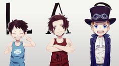 Anime One Piece Sabo Portgas D. Ace Monkey D. Luffy Wallpaper