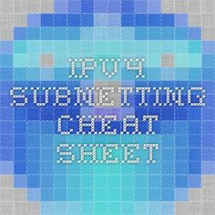 ipv4 subnetting cheat sheet