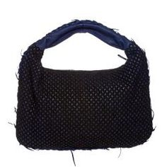 @Overstock - This beautifully constructed designer bag by Bottega Veneta features navy blue leather and a black cotton overlay, creating a uniquely chic look. The wide, single shoulder strap and outside seam of this gorgeous hobo are detailed with fringe. http://www.overstock.com/Clothing-Shoes/Bottega-Veneta-Navy-Leather-Cotton-Overlay-Hobo/6698362/product.html?CID=214117 $1,199.99