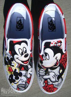 Are you searching for ladies footwear? Disney Vans, Disney Shoes, Disney Outfits, Wedding Vans, Wedding Shoes, Hand Painted Shoes, Disney Painted Shoes, Painted Sneakers, Custom Vans Shoes