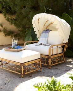 Mimi Outdoor Cuddle Ottoman Outdoor Living Furniture Outdoor Sofa Lounge Furniture Funky Furniture