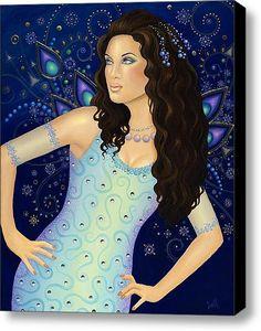 Karma Dancer Stretched Canvas Print / Canvas Art By B K Lusk