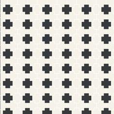 WINCKELMANS: TETRIX Pattern in Super White/Black