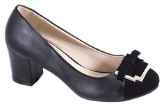 Pantofi cu toc - Pantofi negri cu toc 98656-16N - Zibra