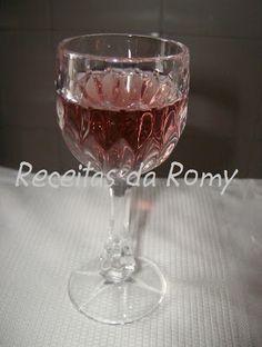 Receitas da Romy: Licor de ameixa