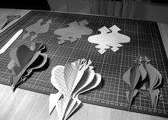 it's a heart heart season: 1001 night paper ornaments