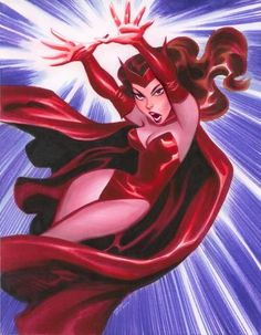 Scarlet Witch by Bruce Timm comic book genres Bruce Timm, Comic Book Characters, Comic Character, Comic Books Art, Character Design, Scarlet Witch Marvel, Frank Brunner, Marvel Universe, Friendzone