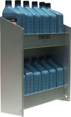 "CargoPal CP230 Oil Rack Shelf Storage Organizer for Race Trailers 3color choice 18""W x 5-1/2""D x 16""Ht Rear Powder Coated Metallic Silver Grey, Gloss White or Gloss Black!"