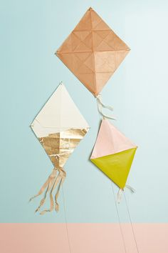 Inspired by our April Lookbook, a kite #DIY made from recycled #Anthropologie packaging, now on the #AnthroBlog