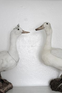 These ducks are so cute....I love the little crown and necklace!