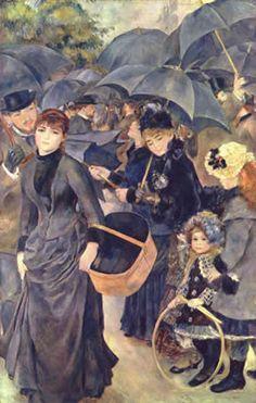 "PIERRE-AUGUSTE RENOIR: ""Los paraguas""."