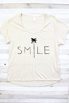 SMILE SHIRT Beach Shirt Summer Shirt Shirt for by PowderAndSea                                                                                                                                                     More