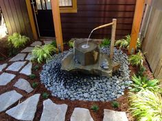 20 Gorgeous Zen Garden Design Ideas For Inspiration In a house both large and small it must have the front and backyard. Usually, the front yard and backyard are filled with parks that can make the home atmosphere more attractive and will make peopl… Water Fountain Design, Bamboo Fountain, Fountain Ideas, Small Japanese Garden, Japanese Garden Design, Japanese Gardens, Japanese Water, Japanese Bamboo, Asian Landscape