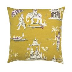 Butterscotch Pagoda Pillow | Janet Kain for the Home