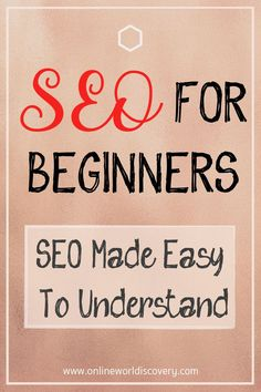 SEO for beginners - 10 important SEO factors listed - super easy to understand Seo Marketing, Digital Marketing Strategy, Online Marketing, Media Marketing, Make Money Blogging, How To Make Money, What Is Seo, Seo Guide, Seo For Beginners