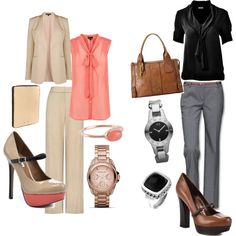Trendy Business Attire, created by rhth712 on Polyvore