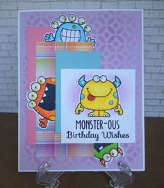 Your Next Stamp Silly Monsters stamp ser