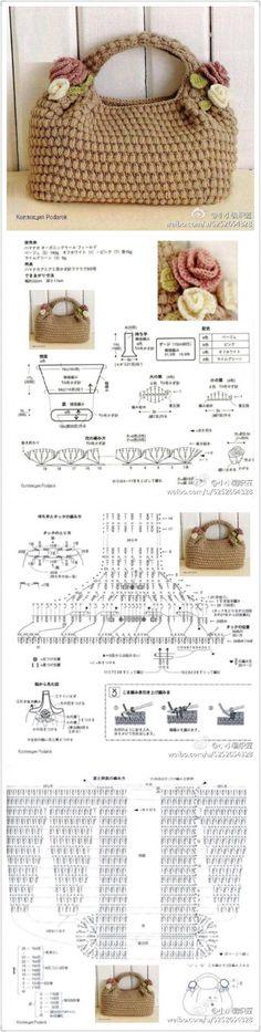 Crochet Bouquet, Crochet Clutch, Crochet Handbags, Crochet Purses, Crochet Flowers, Crochet Bags, Crochet Stitches, Knit Crochet, Crochet Patterns