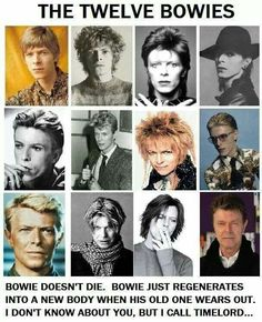The Twelve Bowies    Whovians everywhere