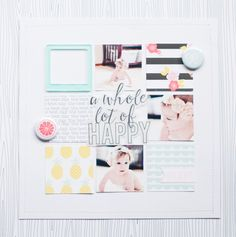 #papercrafting #scrapbooking #layout - A Whole Lot of Happy by alexesmariebrown at @studio_calico