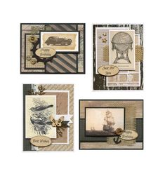 March 2019 Card Kit by JenUngerFineArts on Etsy Craft Kits, Diy Kits, Card Kit, Pattern Paper, Diy Cards, Mini Albums, Birthday Cards, Etsy Seller, Card Making