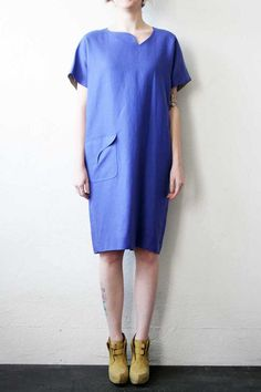 Light Blue Linen Dress by weltenbuerger on Etsy