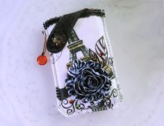 Paris Rose  Mobile Phone Pouch-Samsung-HTC-LG from Lily's Handmade - Desire 2 Handmade Gifts, Bags, Charms, Pouches, Cases, Purses by DaWanda.com