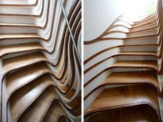 Curvaceous Staircase, I get nauseous just looking at these. let alone using them!