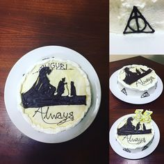 Harry Potter and the deathly hallows inspired birthday cake