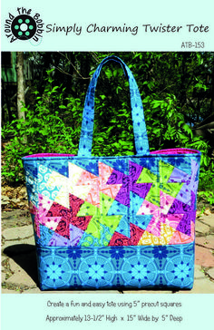 Image of Simply Charming Twister Tote paper pattern