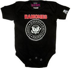 Baby Romper Birds n' Skull Gold Baby Onesie Romper Cool punk rock ...
