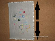 Blocking or Damp Stretching Hand Embroidery