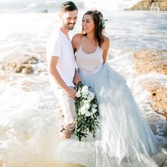 mermaid inspiration engagement photo at the beach, wedding bliss , Space 46 tulle skirt