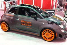 Fiat 500 custom #Abarth #Accessories  SEMA Autoshow 2013 #aftermarket #SEMA #SEMA2013
