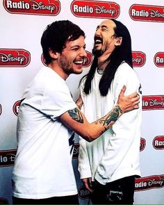 Louis Tomlinson and Steve Aoki at Radio Disney 1/17/17
