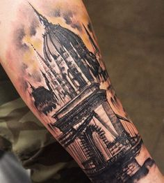 Architecture Tattoo on Pinterest | House Tattoo Building Tattoo and ...
