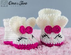 Ravelry: Olivia the Bunny Booties - Baby Sizes pattern by Carolina Guzman