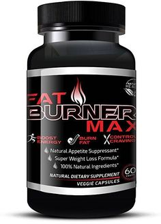 Fat Burner Max Natural Appetite Suppressant Supplement Weight Loss Diet Pills  #FatBurnerMax