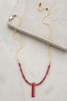 Ruby Anemone Necklace #anthrofave #anthropologie.com