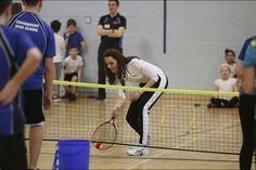 Catherine Duchess of Cambrige when Judy Murray Tennis workshop in Edinburgh, 24 February 2016