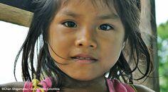 Niña de San Antonio de los Lagos, Amazonas, #Colombia #Etnic #Amazon